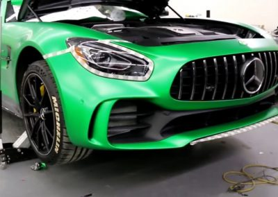 Green-Car-Wrap-on-this-Mercedes-Benz