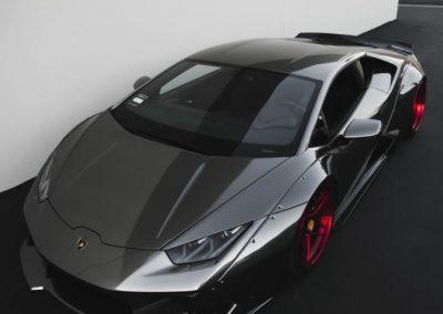 Lamborghini with a Paint Protective Wrap