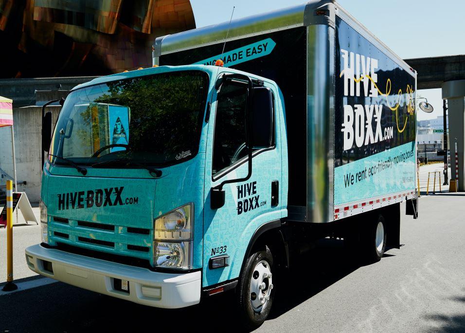 Fleet wrap for a company truck